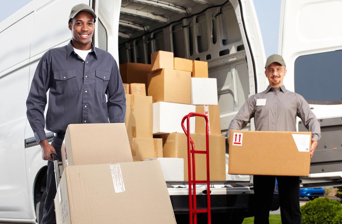 Men unloading the truck