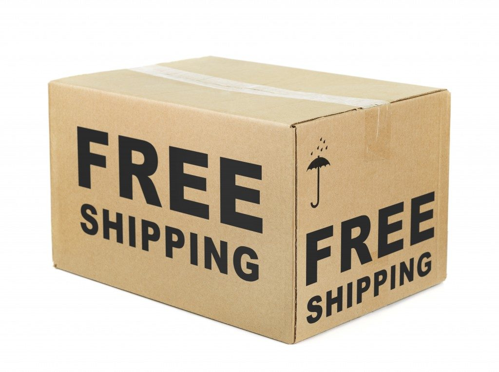 free shipping item packed inside a box