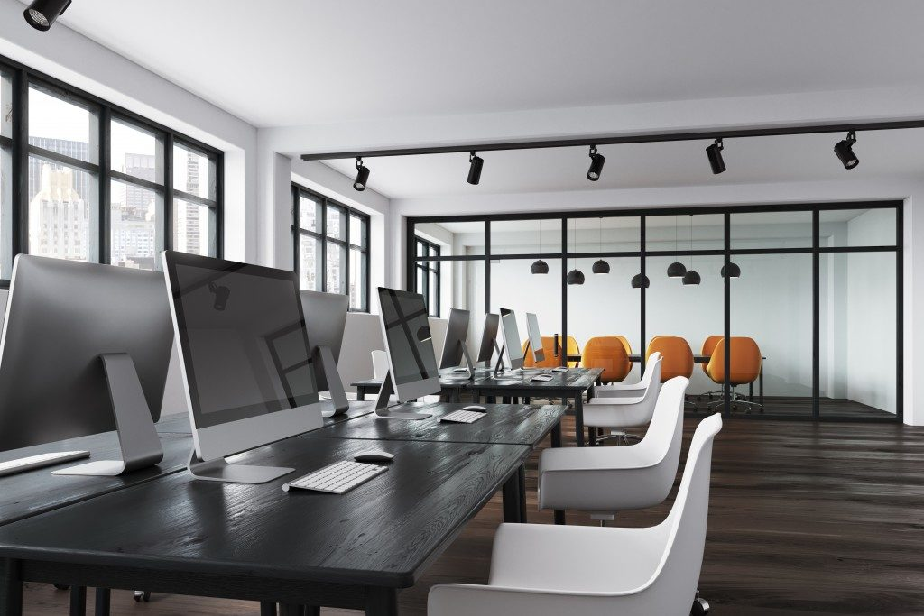monochromatic office design